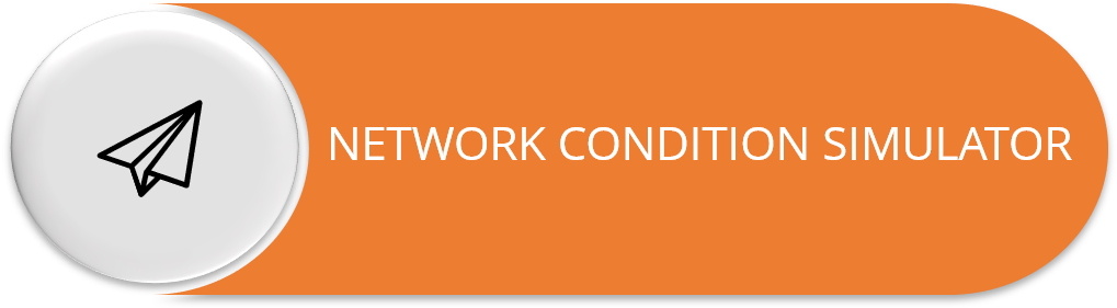 Network Condition Simulator to test network parameters in real-time